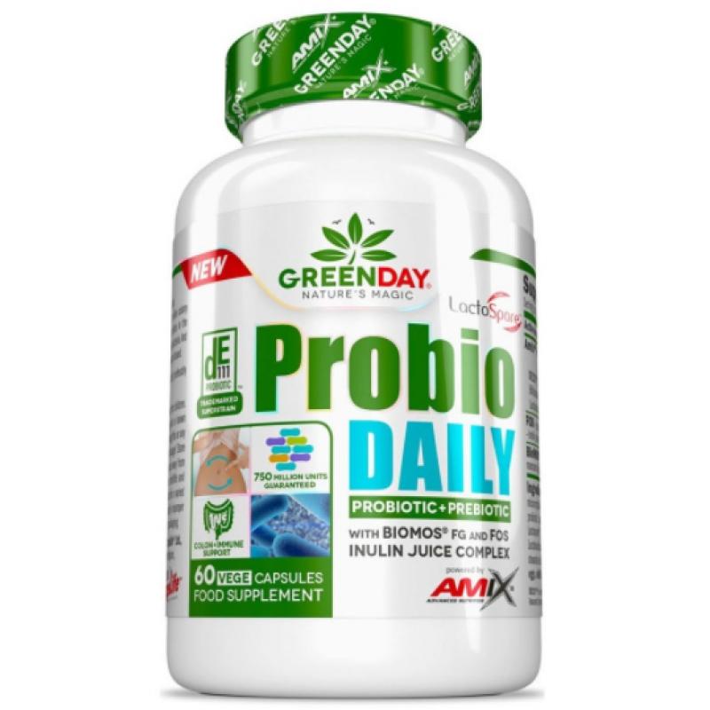 Amix Nutrition GreenDay® Probio Daily 750 miljonit ühikut 60 kapslit