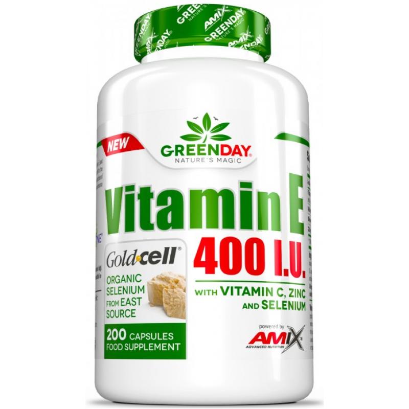 Amix Nutrition GreenDay® Vitamiin E400 RÜ LIFE + 200 kapslit