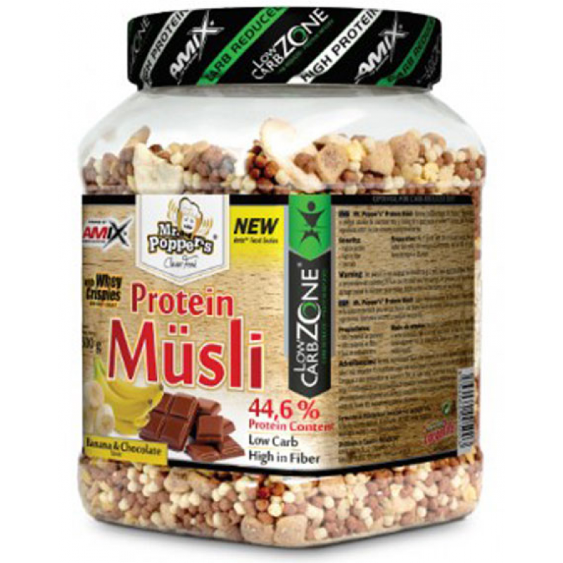 Amix Nutrition Mr.Popper´s - LowCarb Protein Müsli 500 g