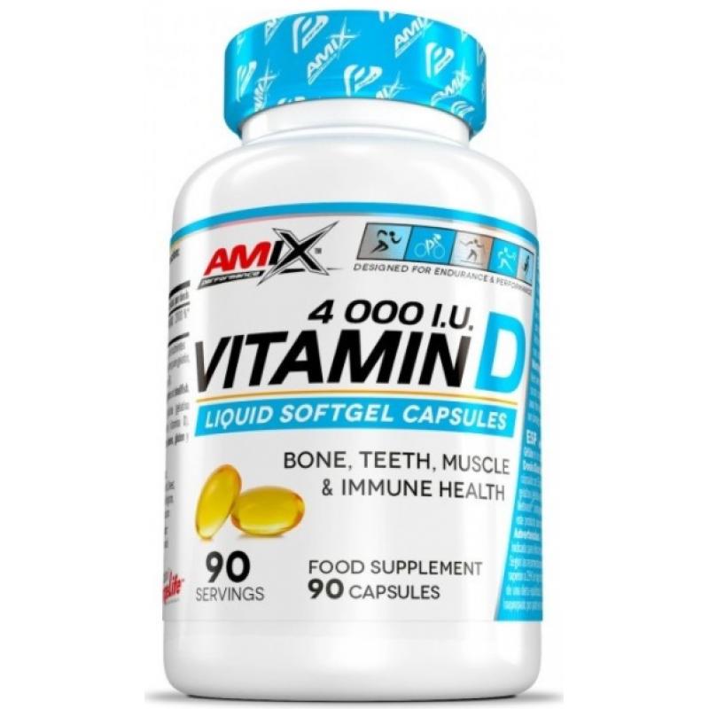 Amix Nutrition Performance Amix® D-vitamiin 4000 I.U.90 geelkapslit
