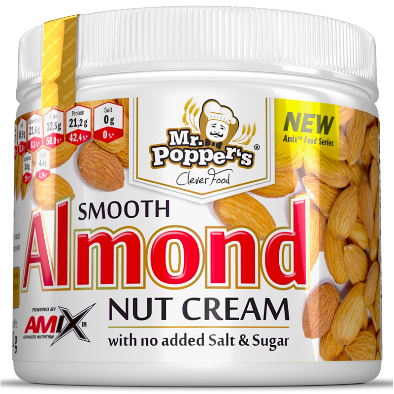 Amix Nutrition Mr.Popper ́s - Nut Almond Smooth Cream (pähkli mandli kreem) 300 g