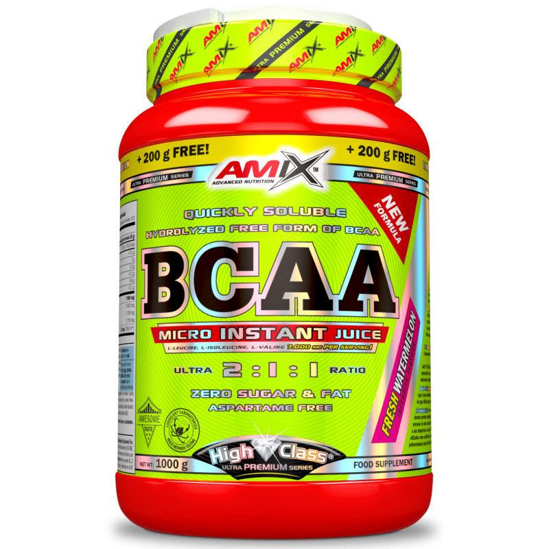 Amix Nutrition BCAA High Class Micro-Instant Juice aminohapped 500 g