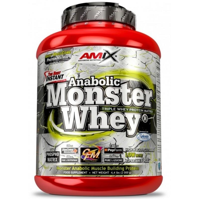 Amix Nutrition Anabolic Monster Whey® 2,2 kg karp koos Monster Shakeriga foto