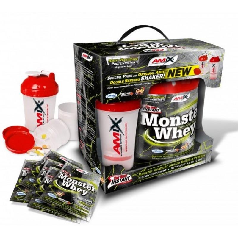 Amix Nutrition Anabolic Monster Whey® 2,2 kg karp koos Monster Shakeriga