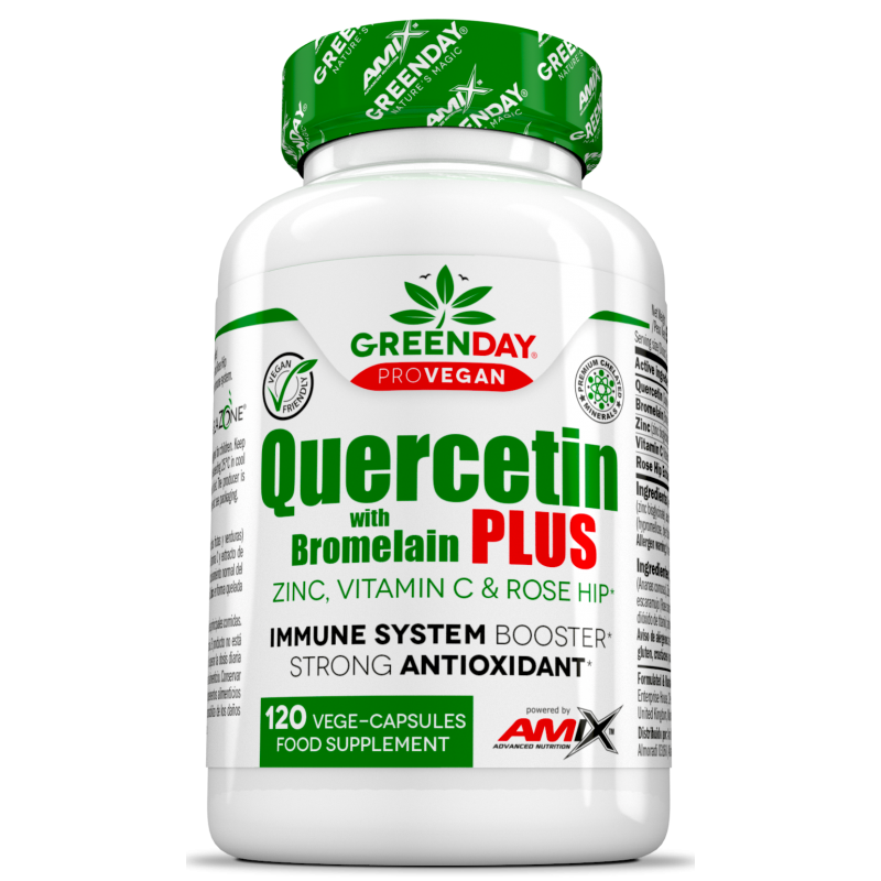 Amix Nutrition GreenDay® ProVEGAN Kvertsetiin ja Bromelaiin Plus 120 kapslit