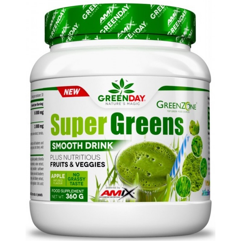 Amix Nutrition GreenDay Super greensi Smooth Drink 360 g