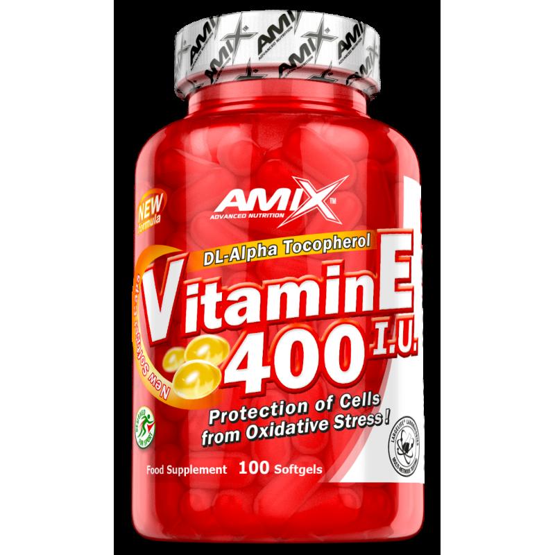 Amix Nutrition E-vitamiin 400 RÜ 100 geelkapslit