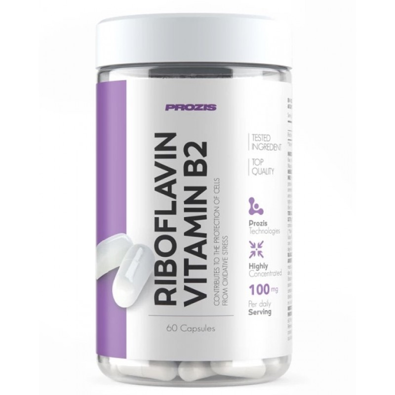 Riboflavin Vitamin B2 100 mg 60 caps