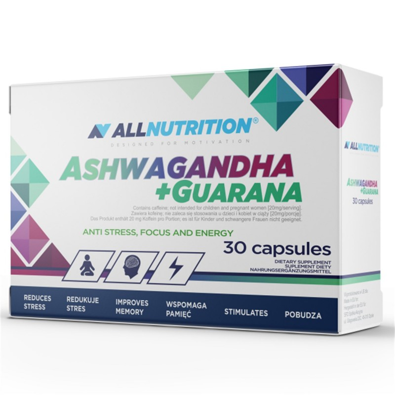 ASHWAGANDHA 300MG + GUARANA 30 caps