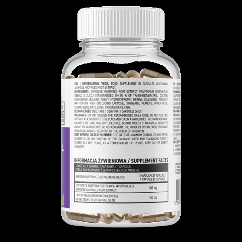 Resveratrol VEGE 60 caps Resveratrool foto