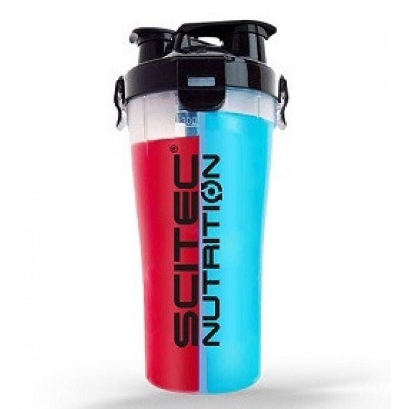 Scitec Nutrition Plastic Dual Shaker 700 ml (2x350ml)