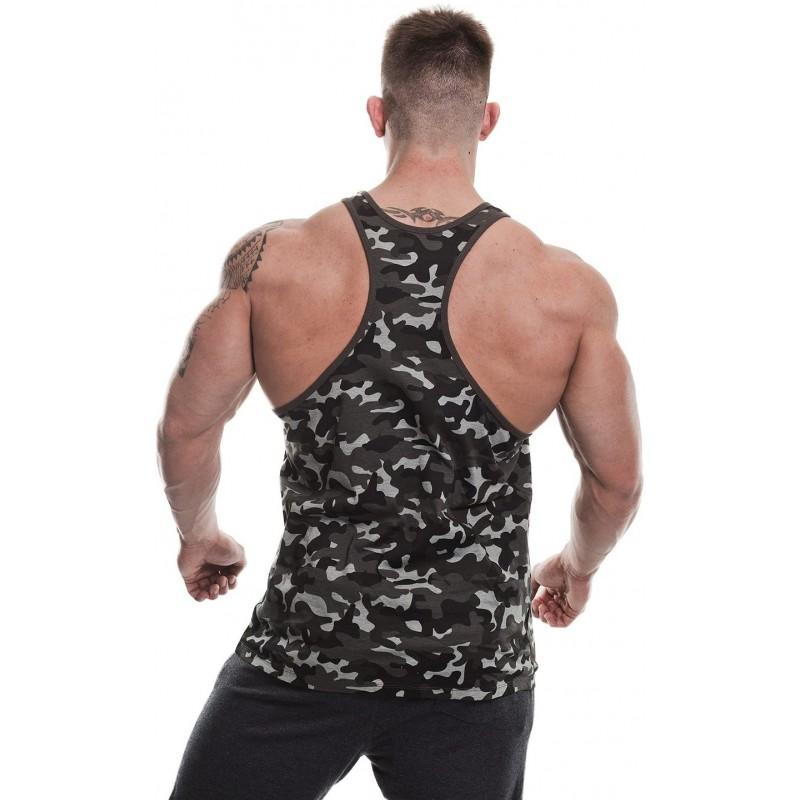 Golds Gym Stringer joe premium vest camo black foto