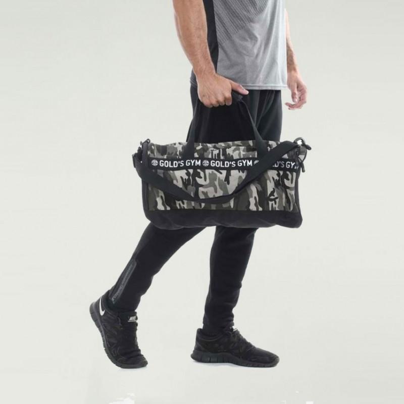 Golds Gym Unisex workout barrel bag camo black and grey foto
