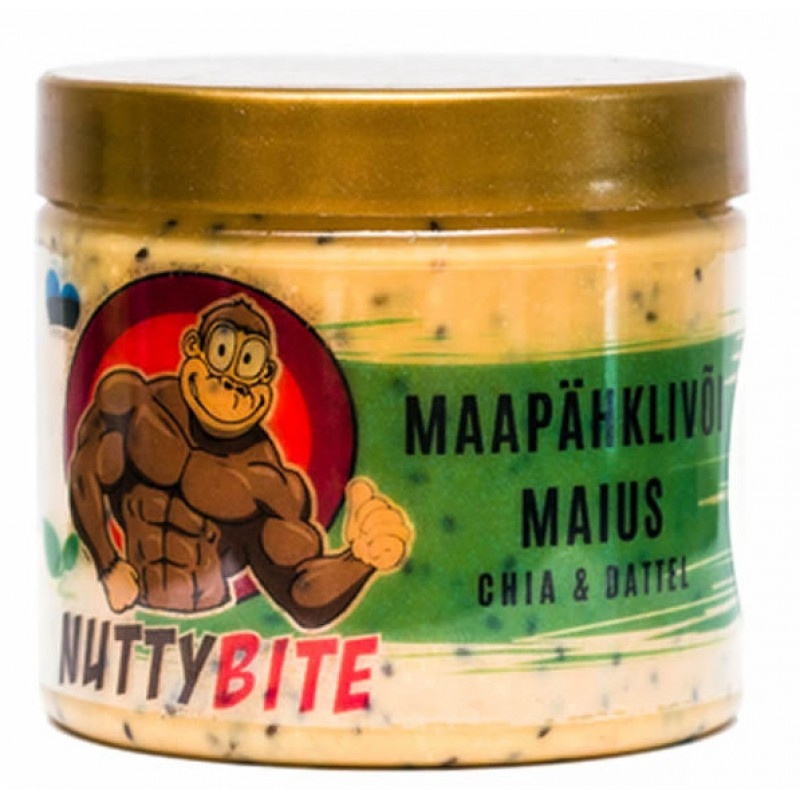 NUTTYBITE Krõmpsuv maapähklivõi maius, Chia-datli 225 g
