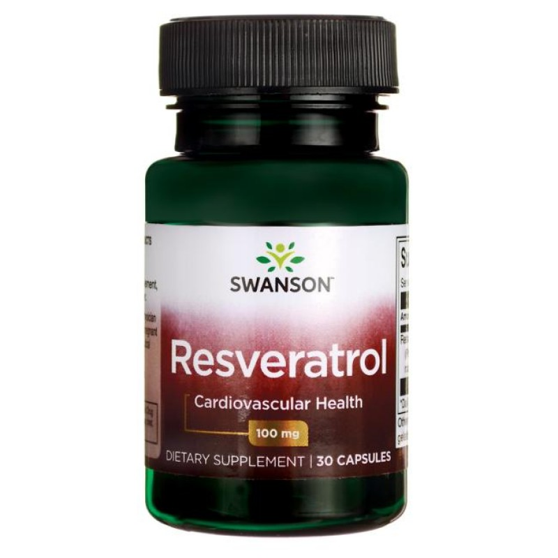 Swanson Resveratrool 100 mg 30 kapslit