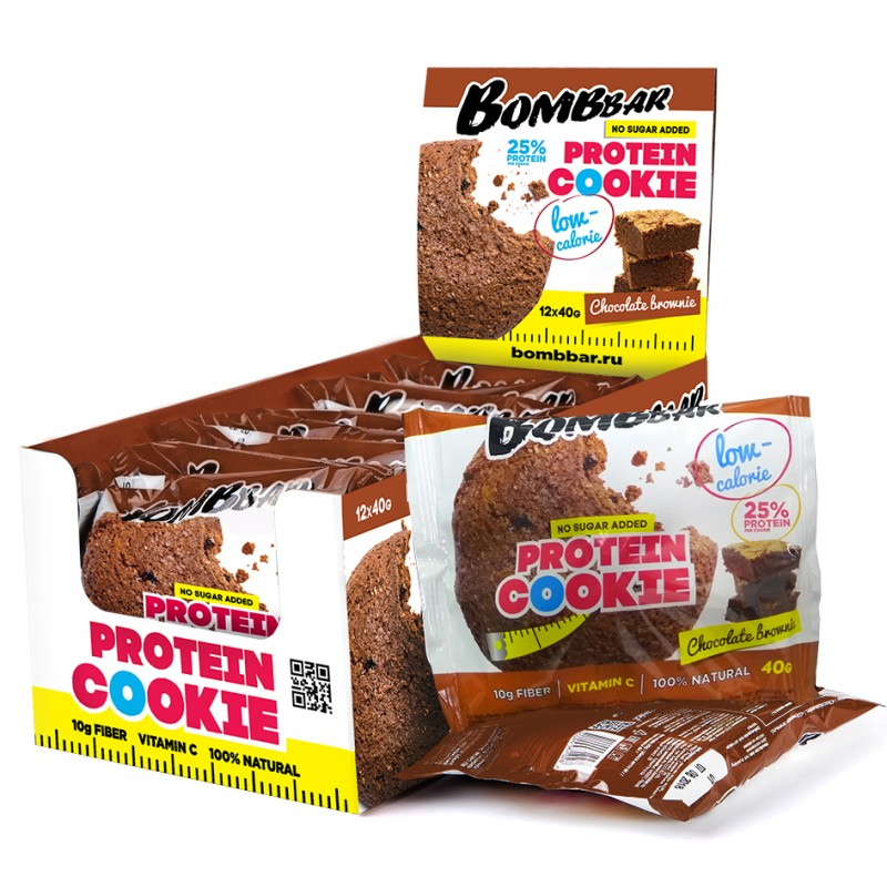 Bombbar Proteiiniküpsis, šokolaadi browny 40g
