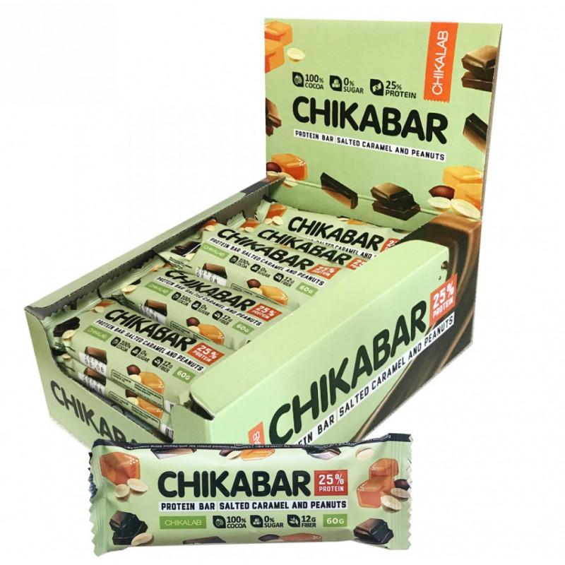 Bombbar Chikabar 60g soolane karamell ja maapähkel