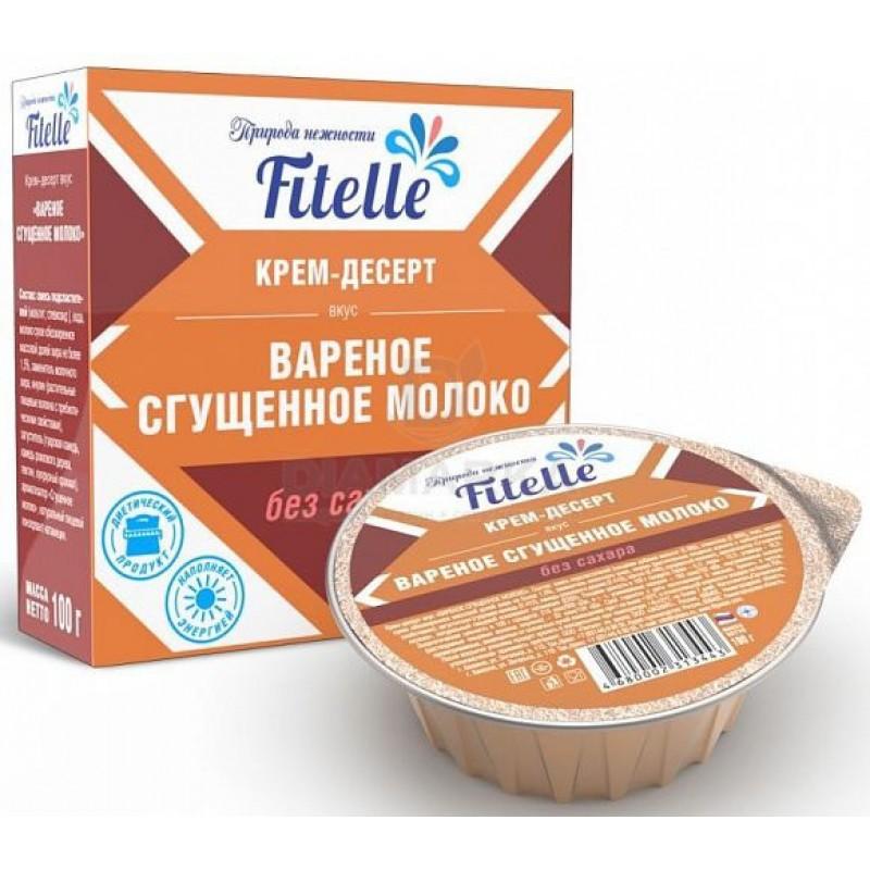 Fitparad Keedetud kondenspiimaga kreem-dessert Fitelle 100g