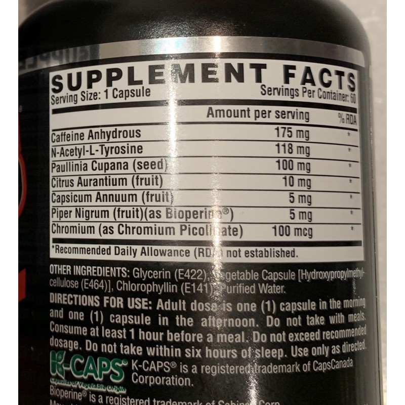 Nutrex Lipo 6 black ULTRA CONCENTRATE 60 cap foto