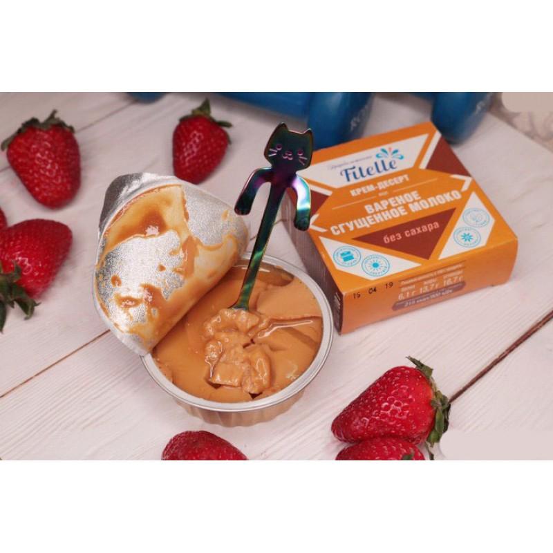 Fitparad Keedetud kondenspiimaga kreem-dessert Fitelle 100g foto