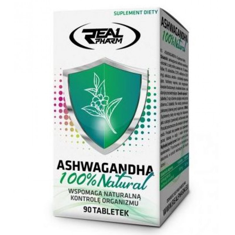 Real Pharm Ashwagandha 100% NATURAL 90 tabs