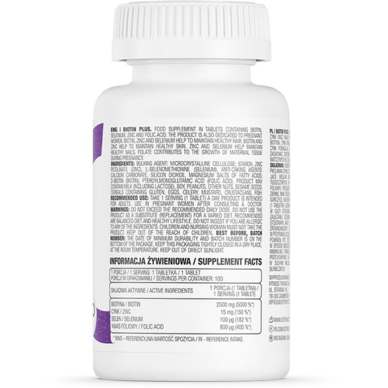 Biotin Plus 100 tabs B7 Biotiin foto