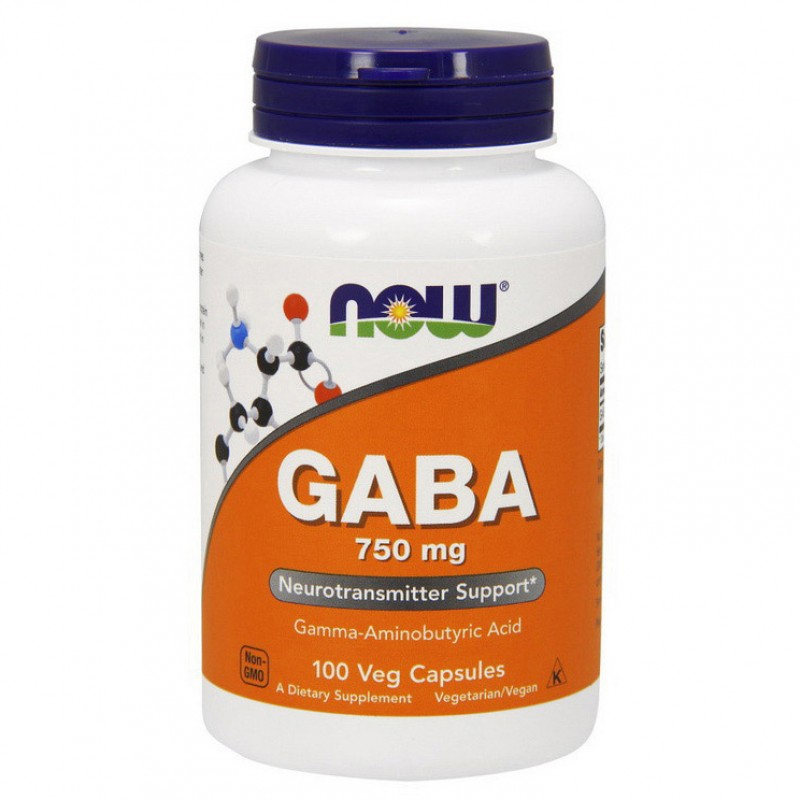 NOW Gaba 750 mg 100 kapslit
