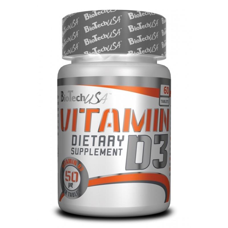 Biotech USA Vitamin D3 2000IU, 60tabs