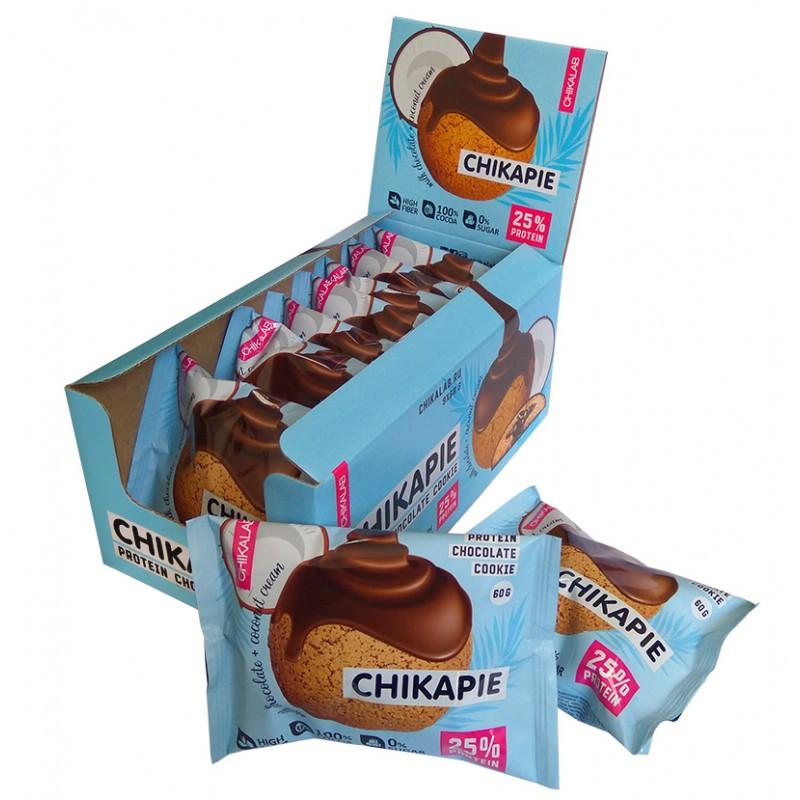 Proteiiniküpsis 60g , chikapie šokolaad ja kookos