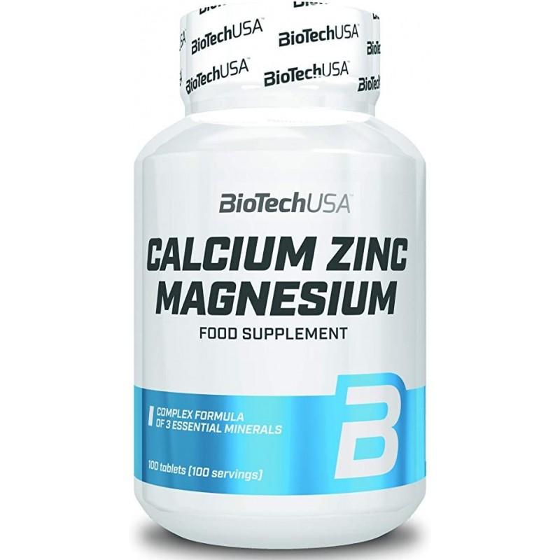 Biotech USA Calcium Zinc Magnesium 100 Tabs