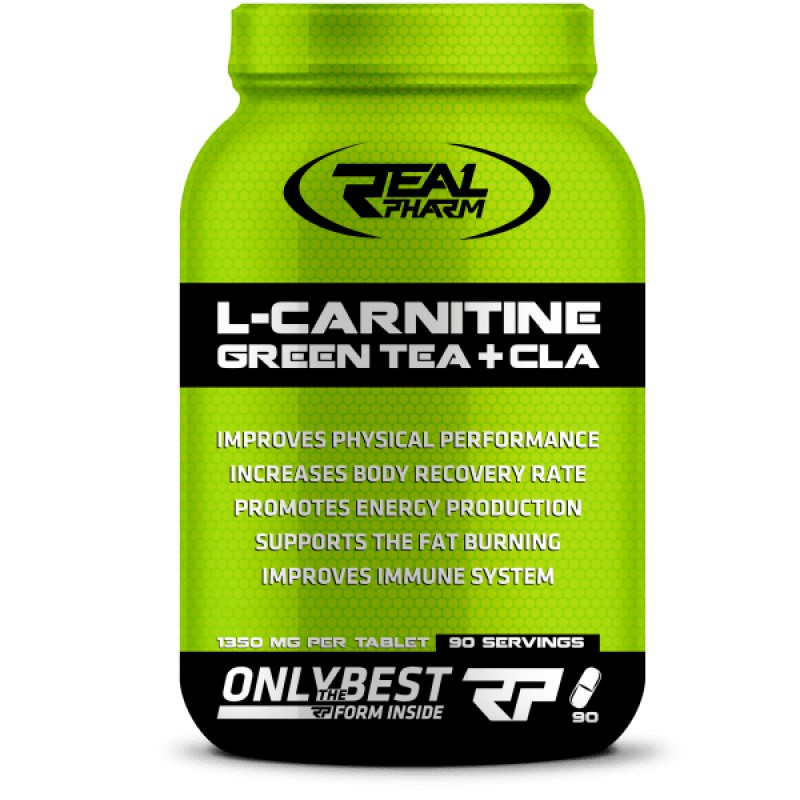 L-carnitine Green Tea + CLA 90caps