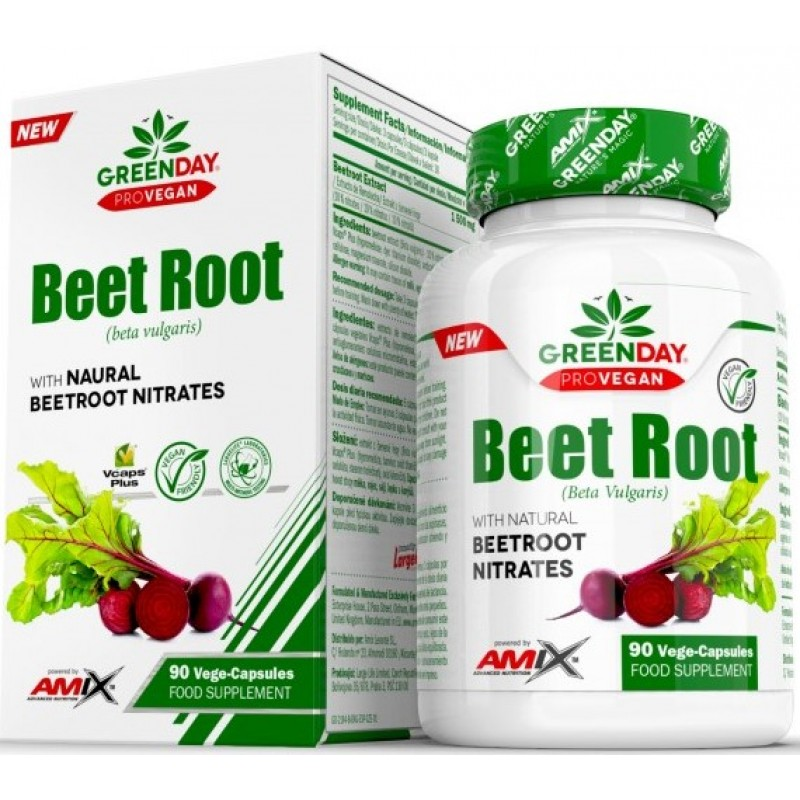 Amix Nutrition GreenDay® ProVEGAN Beet Root 90 Vege kapslit