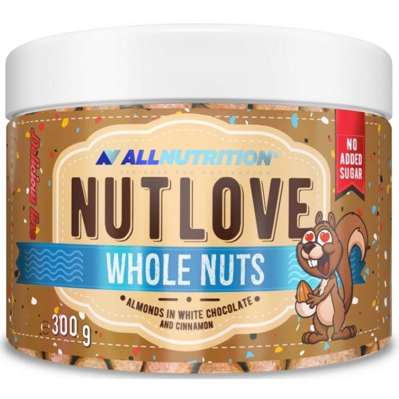 Nutlove terved pähklid 300 g - mandlid valges šokolaadis ja kaneelis