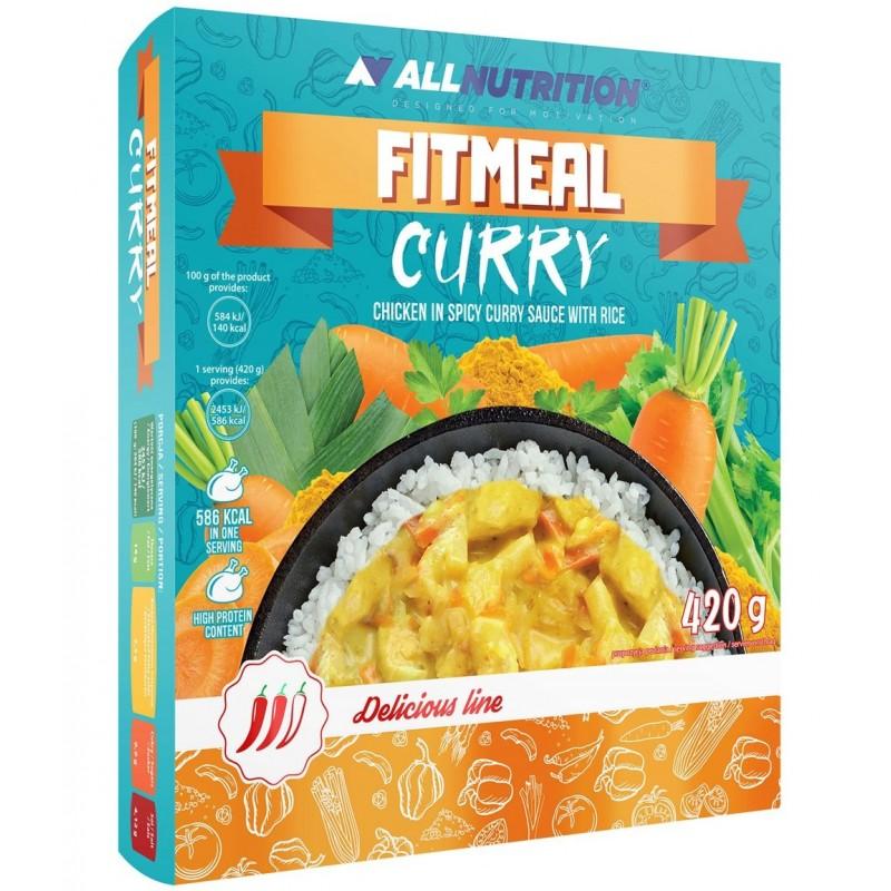 AllNutrition Fitmeal Curry 420 g - kana karrikastmes riisiga
