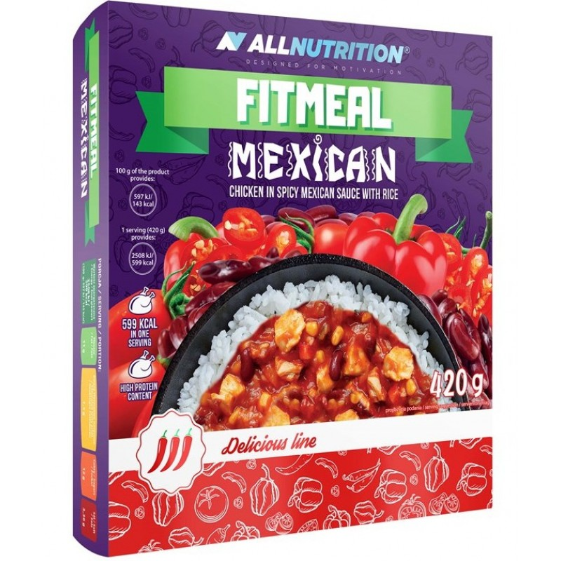 AllNutrition Fitmeal Mexican 420 g - kana Mehhiko kastmes riisiga