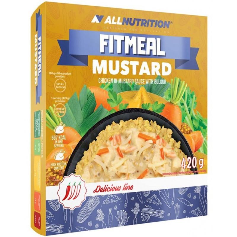 AllNutrition Fitmeal Mustard 420 g - kana sinepikastmes bulguriga
