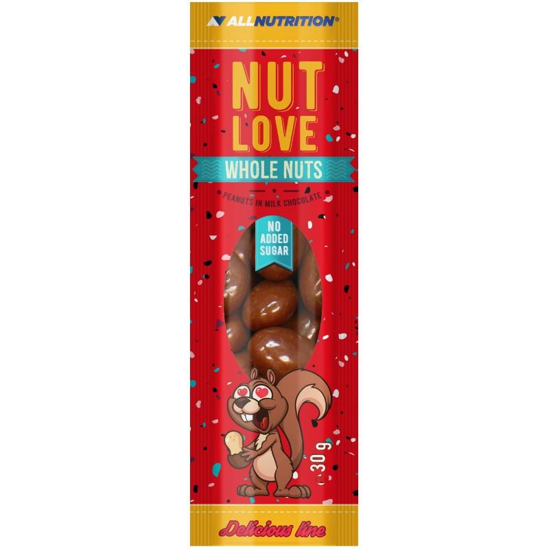 AllNutrition Nutlove Whole Nuts maapähklid piimašokolaadis 30 g