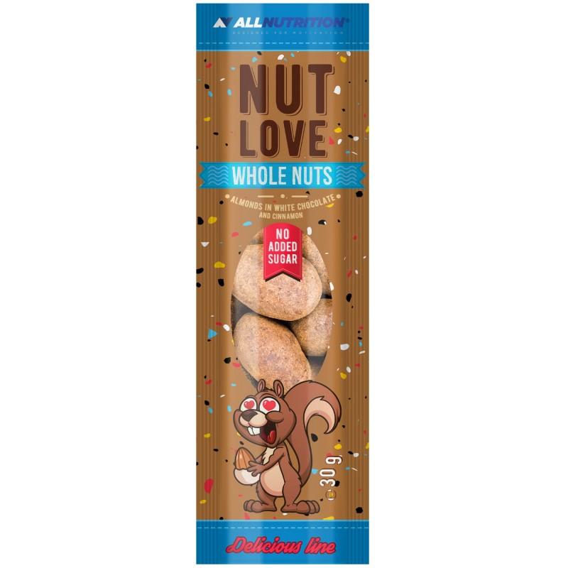 Nutlove Whole Nuts mandlid valges šokolaadis ja kaneelis 30 g