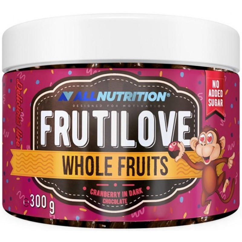 AllNutrition Frutilove Whole Fruits 300 g jõhvikad tumedas šokolaadis