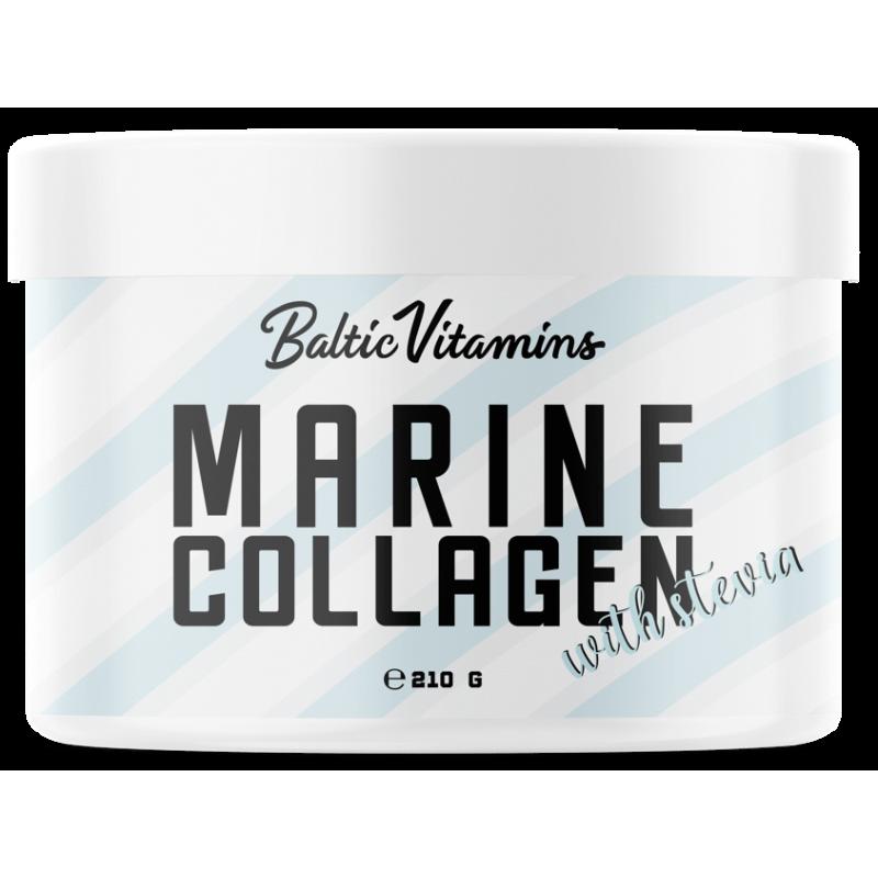 Baltic Vitamins Marine collagen with Stevia 210 g