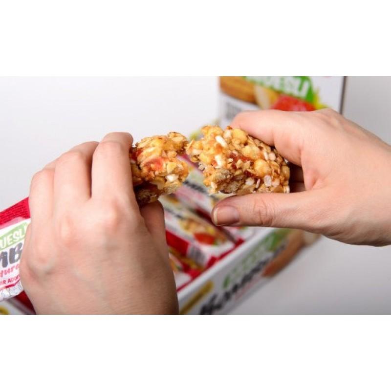 Maasika-mandli müslibatoon 45 g Proteiinibatoonid foto