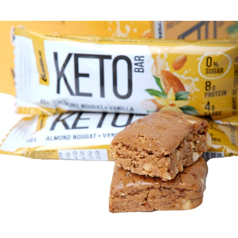 Keto Bar 40 g -Almond Nougat & Vanilla- Proteiinibatoonid foto