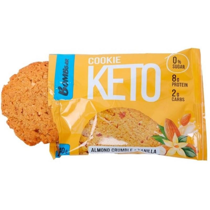 Keto Cookies 40 g -Almond Crumble & Vanilla- Proteiiniküpsised foto
