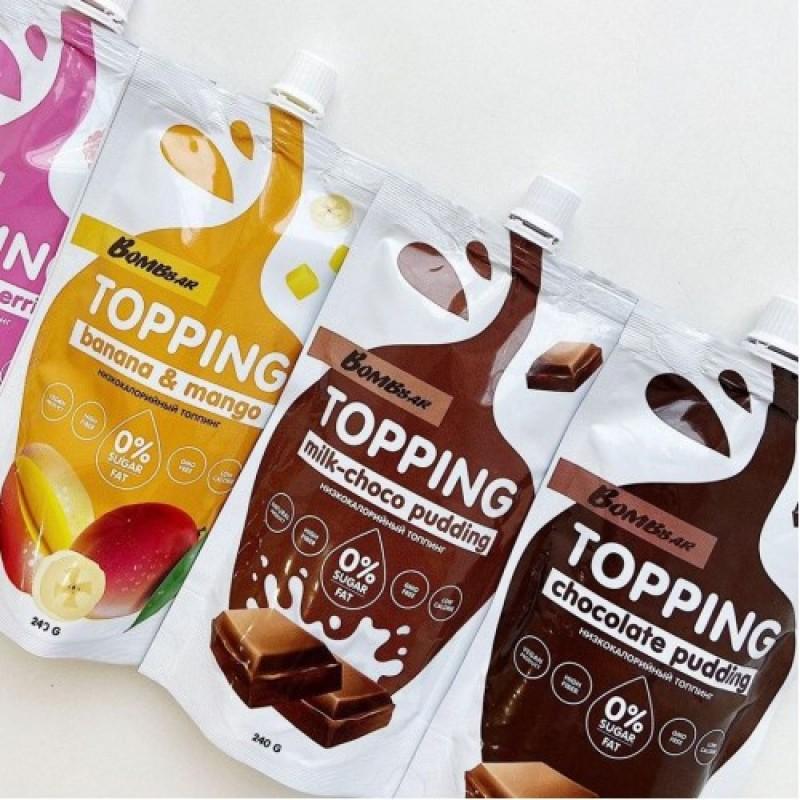 Bombbar Topping Milk-Choco Pudding 250 g foto