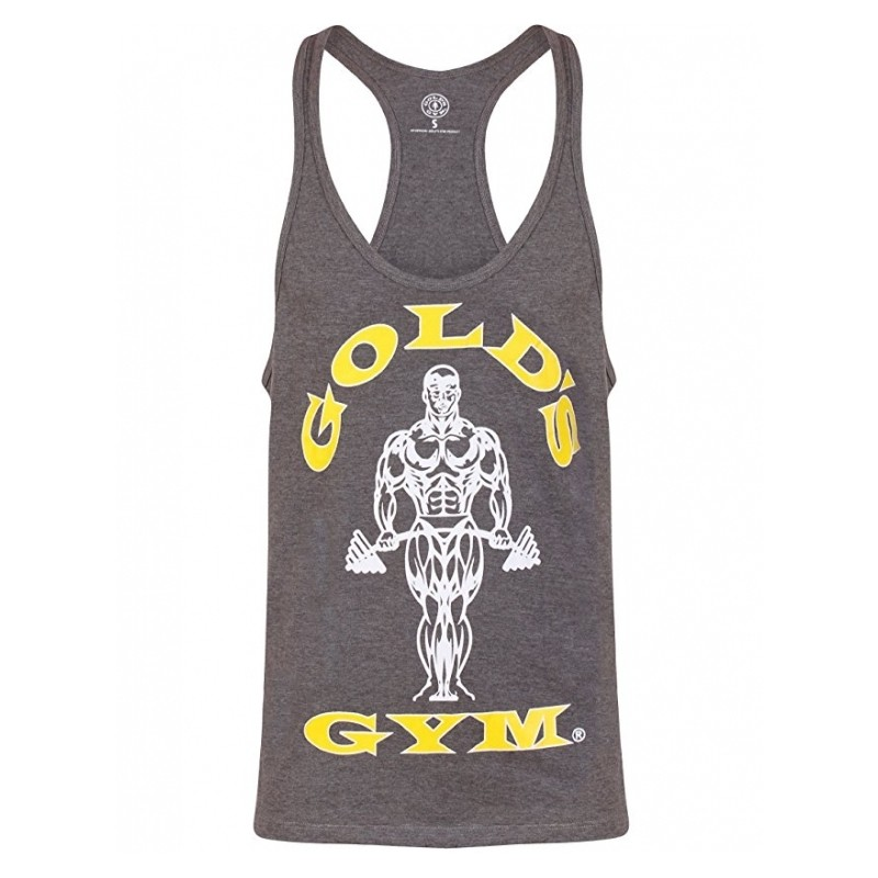 Golds Gym Stringer joe premium vest grey
