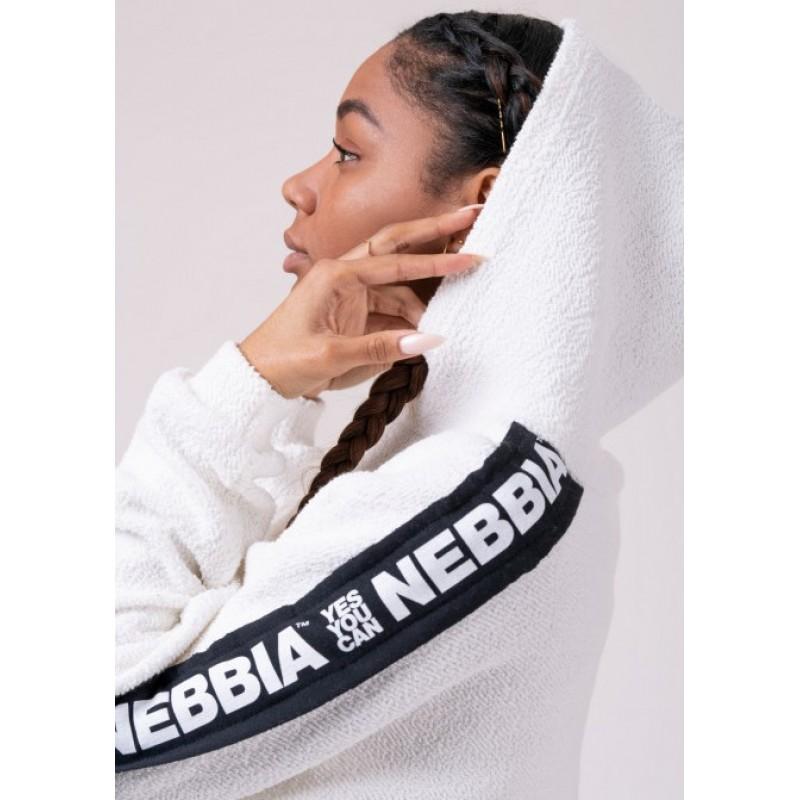 Rebel Hero cropped hoodie 520, valge