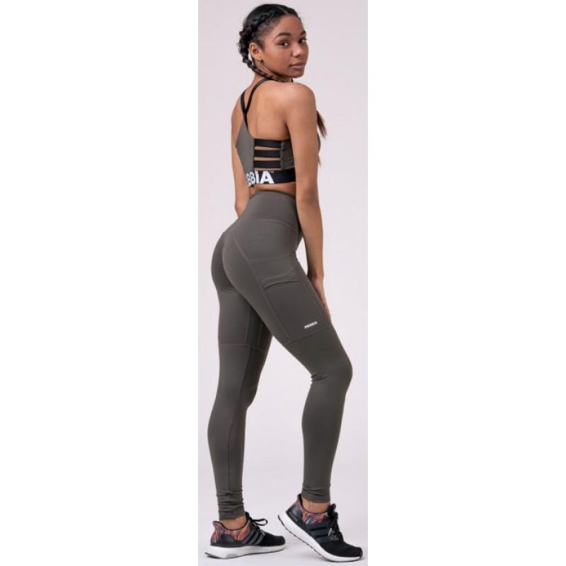 High waist Fit&Smart leggings 505, safari