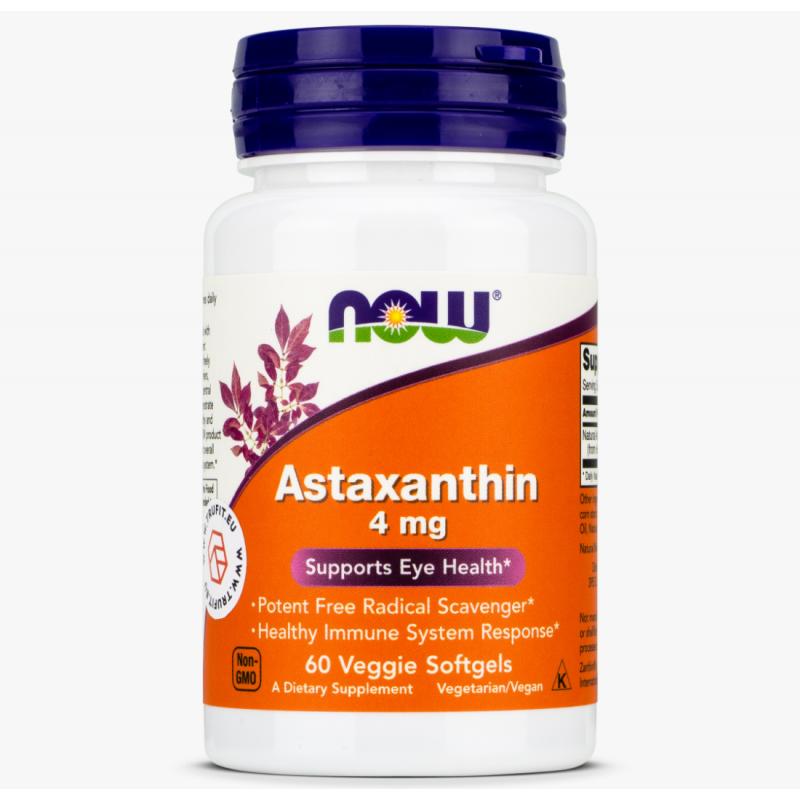 Astaxanthin 4 mg Vege 60 Caps