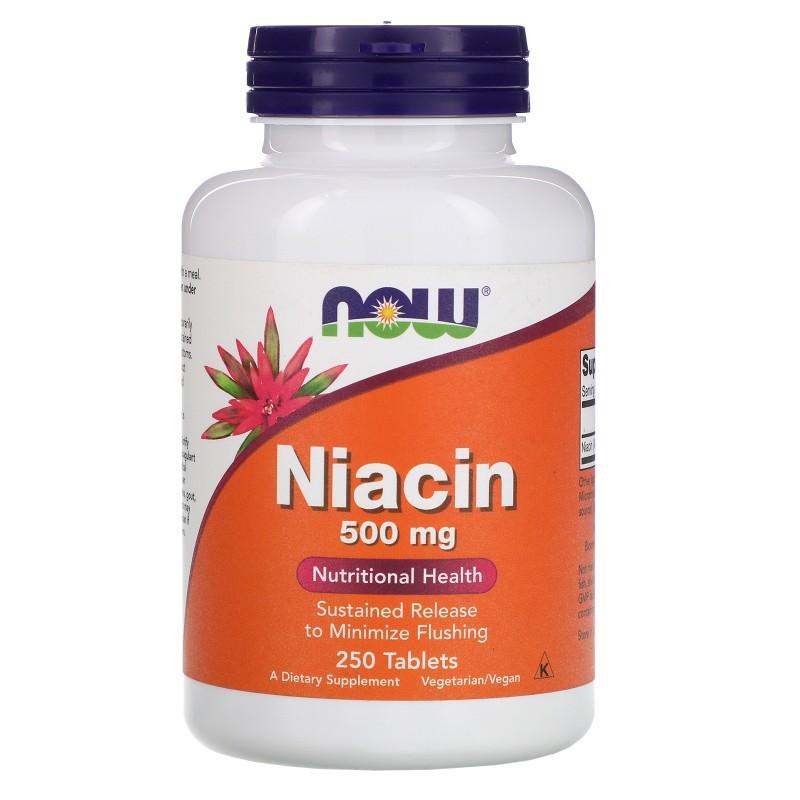 NOW Niatsiin 500 mg TR 250 tabletti