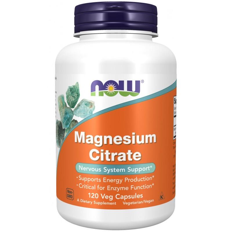NOW Magneesiumtsitraat 400 mg 120 vege kapslit